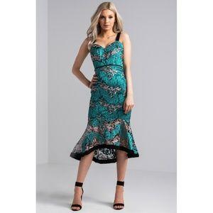 Dresses & Skirts - Floral Lace Mermaid Dress